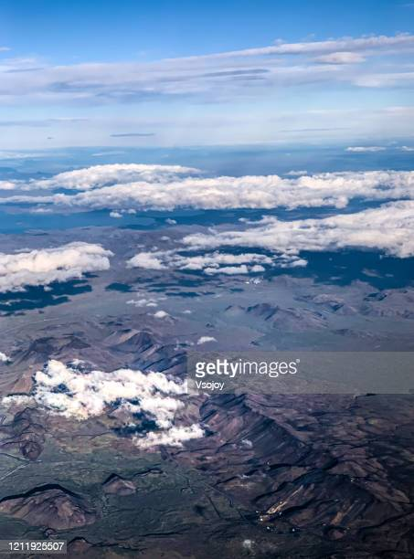 see iceland from the sky ii - vsojoy stock pictures, royalty-free photos & images