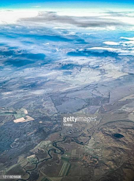 see iceland from the sky iv - vsojoy stock pictures, royalty-free photos & images
