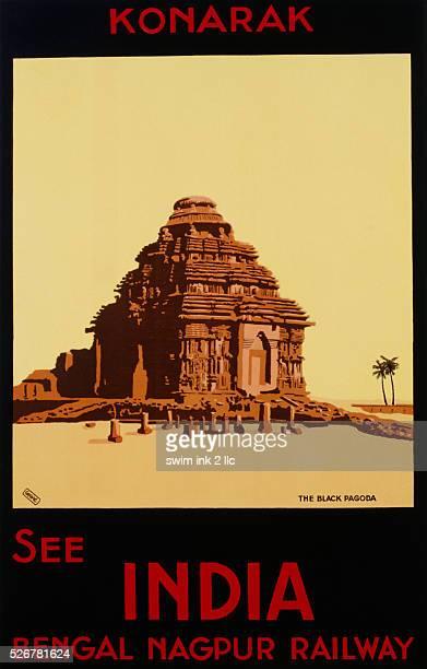 See India - Bengal Nagpur Railways, Konaruk, the Black Pagoda Poster by Bylityllis
