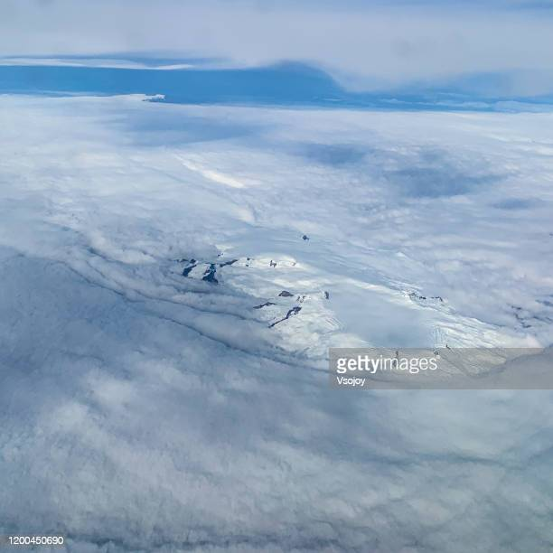 see the glacier from the sky, iceland. - vsojoy stock pictures, royalty-free photos & images