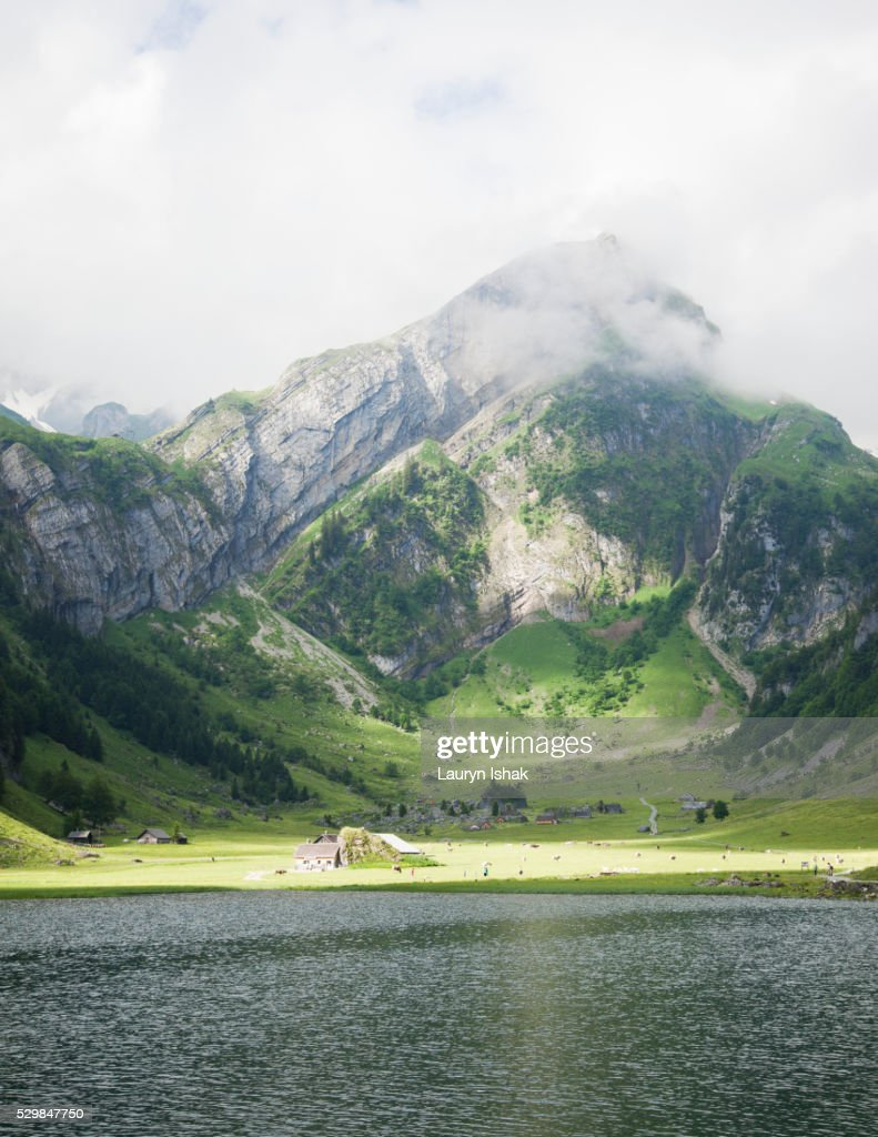Seealpsee in Appenzell : Stock Photo