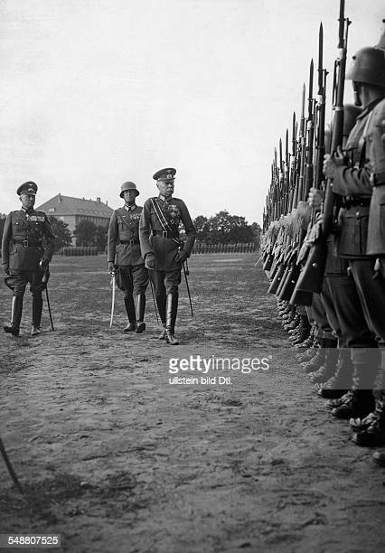 Seeckt Hans von Officer Germany *22041866 192026 Chief of the 'Heeresleitung' taking over the Infantry Regiment 67 in Spandau Photographer...