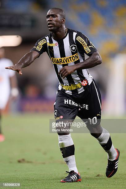 Seedorf of Botafogo in action during a match between Botafogo and Atletico MG as part of Brazilian Serie A 2013 at Maracana Stadium on October 26,...
