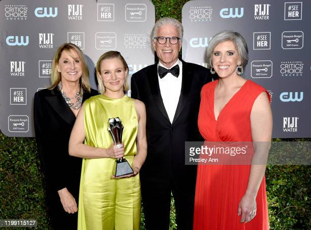 SeeHer Executive Director Patty Kerr, Kristen Bell, winner of the #SeeHer Award, Ted Danson and #SeeHer Media Director Liz Dinnsen attend the 25th...
