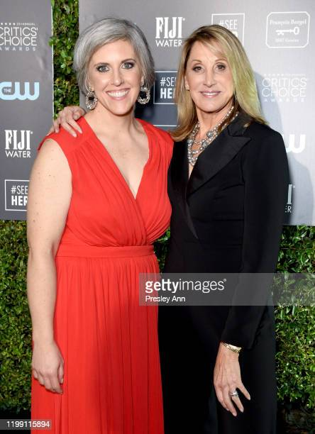 SeeHer Media Director Liz Dinnsen and #SeeHer Executive Director Patty Kerr attend the 25th Annual Critics' Choice Awards at Barker Hangar on January...