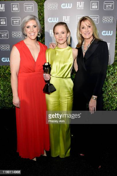 SeeHer Media Director Liz Dinnsen, Kristen Bell, winner of the #SeeHer Award, and #SeeHer Executive Director Patty Kerr attend the 25th Annual...