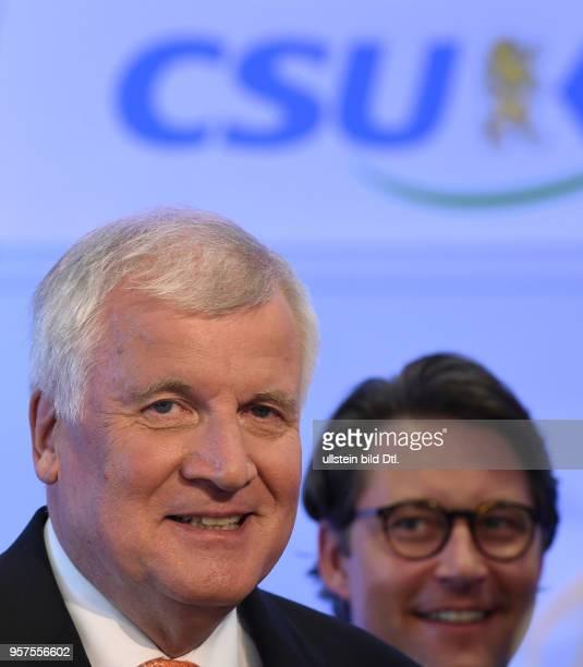 Seehofer Horst D Politiker CSU links Scheuer Andreas D Politiker CSU rechts 10 September 2016 Seehofer Horst Germany politician CSU left September 10...