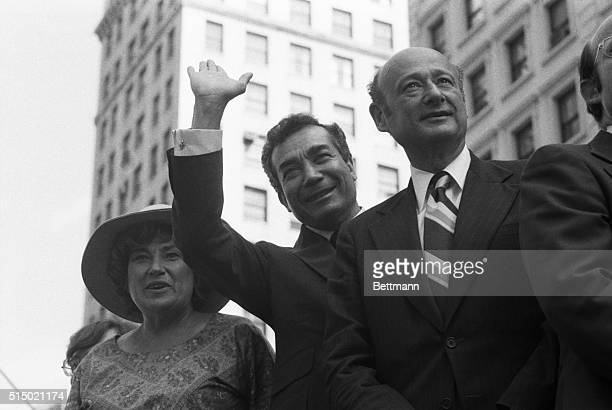 Seeking the Democratic Mayoral nomination Bella Abzug Mario Cuomo and Ed Koch make an appearance at a labor rally New Yorkers go to the polls...