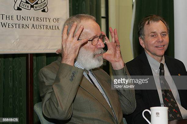 Seeking WisdomNobel laureates Pathologist Dr Robin Warren and Professor Barry Marshall conduct a press conference at the University of Western...