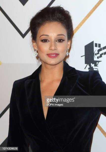 Seema Jaswal on the red carpet at the BBC Sports Personality Of The Year 2018 at the Resorts World Arena