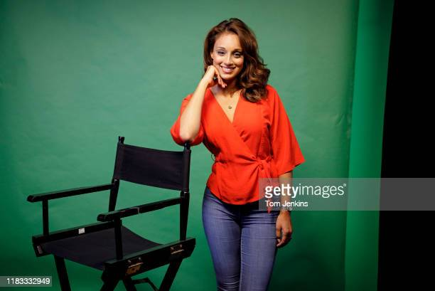 Seema Jaswal the television sports presenter poses for a portrait in a studio at Premier PR near New Oxford Street on September 20th 2018 in London
