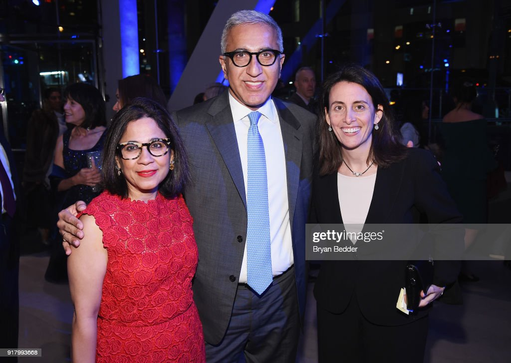Seema Khanna, Somesh Khanna and guest attend the Winter Gala at Lincoln Center at Alice Tully Hall on February 13, 2018 in New York City.