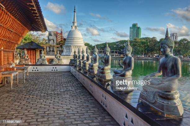 seema malaka temple buddha statues - colombo stock pictures, royalty-free photos & images
