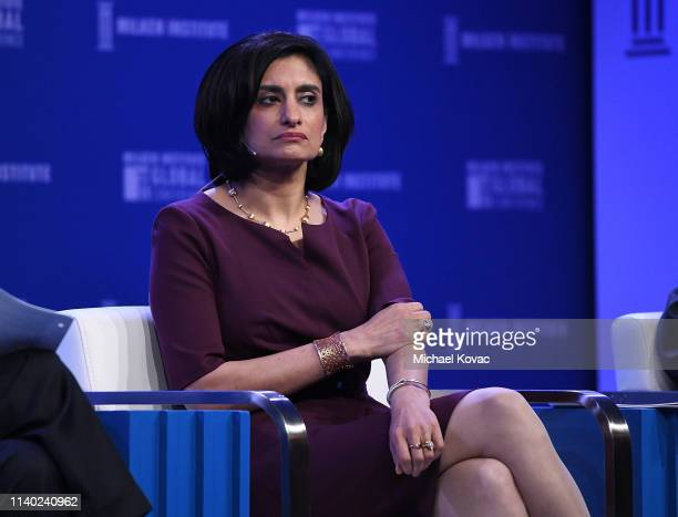 Seema Verma Administrator Centers for Medicare and Medicaid Services US Department of Health and Human Services participates in a panel discussion...