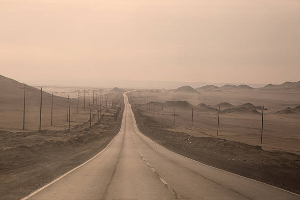A Seemingly Endless Road, Peru. Wall Art