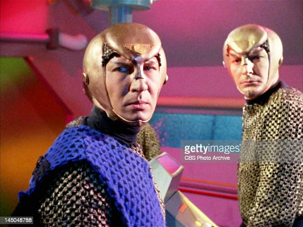 Seen here at left in foreground Lawrence Montaigne as Decius a Romulan in the STAR TREK episode Balance of Terror Original airdate December 15 season...