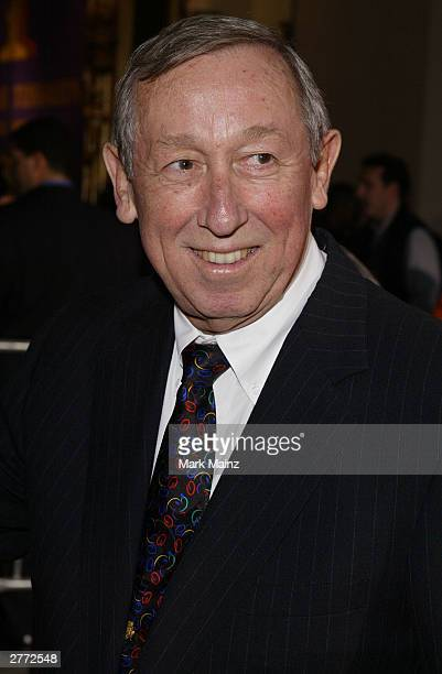 FILE PHOTO Seen in this file photo Roy E Disney attends the Walt Disney Pictures premiere of Brother Bear at the New Amsterdam Theatre October 20...