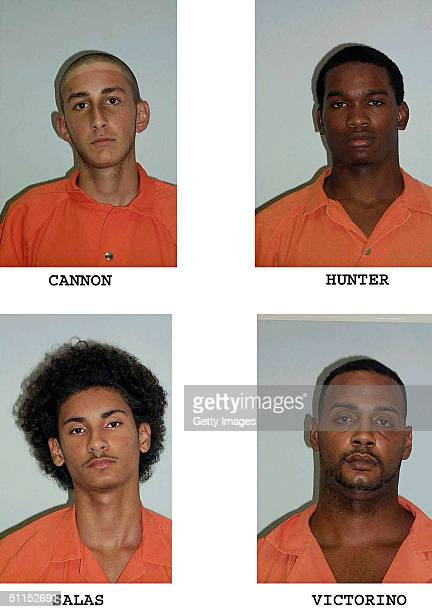 Seen in this undated police booking are four mugshots released by the Volusia County Sheriff's Office on August 8 2004 showing murder suspects Robert...