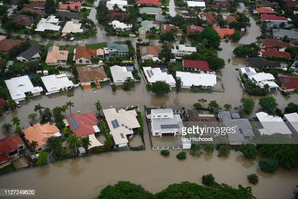 Seen is a general view of the flooded Townsville suburb of Annandale on February 04, 2019 in Townsville, Australia. Queensland Premier Annastacia...