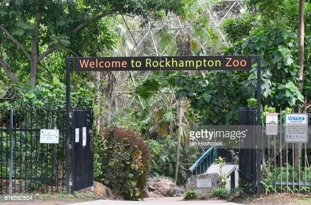 Seen is an entrance to the Rockhampton Zoo on July 10 2017 in Rockhampton Australia