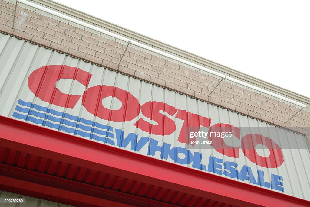 An exterior view of a Chicago Costco warehouse store : News Photo