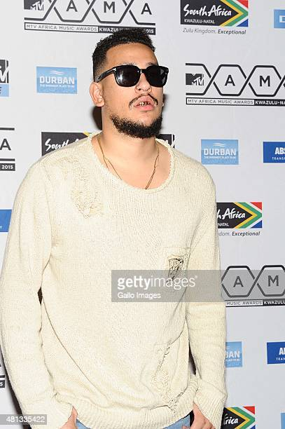 AKA seen on the red carpet at the 2015 MTV Africa Music Awards on July 182015 at the Durban International Conference Centre in DurbanSouth Africa The...