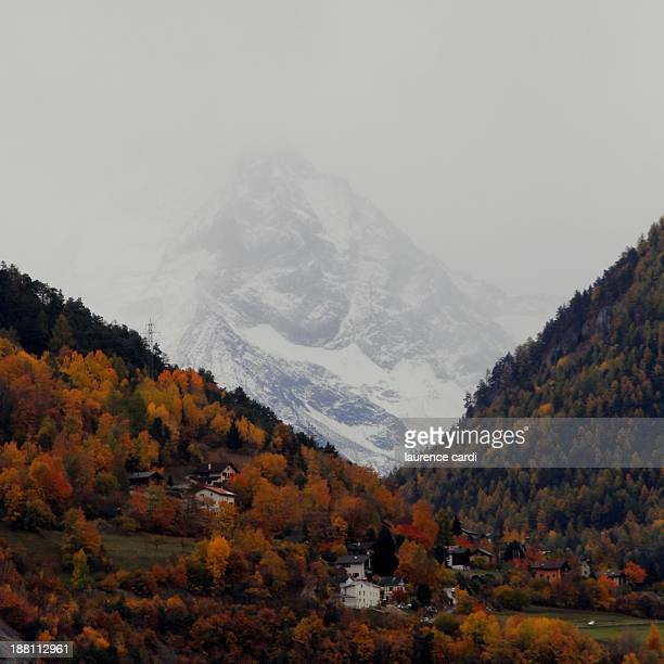 seen on zinalrothorn in autumn - cardi stock pictures, royalty-free photos & images