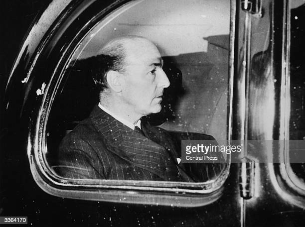 Seen through a car window Conservative MP and War Minister John Profumo whose relationship with Christine Keeler caused a national scandal and forced...