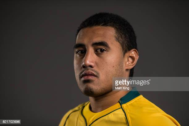 Sef Fa'agase poses for a headshot during the Australian Wallabies Player Camp at the AIS on April 9 2017 in Canberra Australia