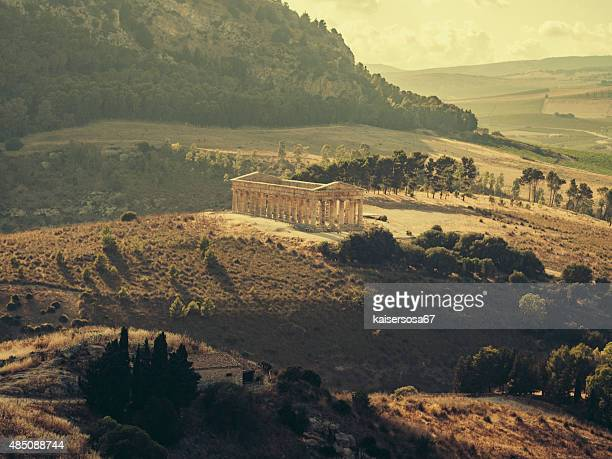 Segesta Greek temple in Sicily. Italy