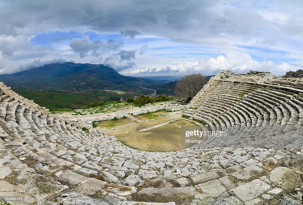 segesta ruins of the ancient greek theatre stock photo getty images
