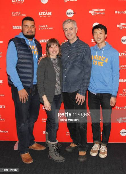 Segment Director Kevin Shaw Segment Producer Rebecca Parrish Director Steve James and Segment Director Bing Liu attend America To Me during the 2018...