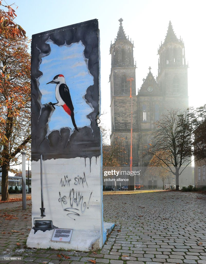 Remains of the Berlin Wall in Germay : News Photo