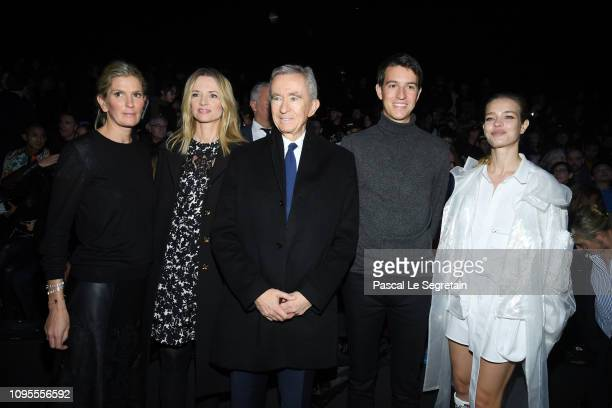 Segolene Frere Gallienne Delphine Arnault Bernard Arnault Alexandre Arnault and Natalia Vodianova attend the Louis Vuitton Menswear Fall/Winter...