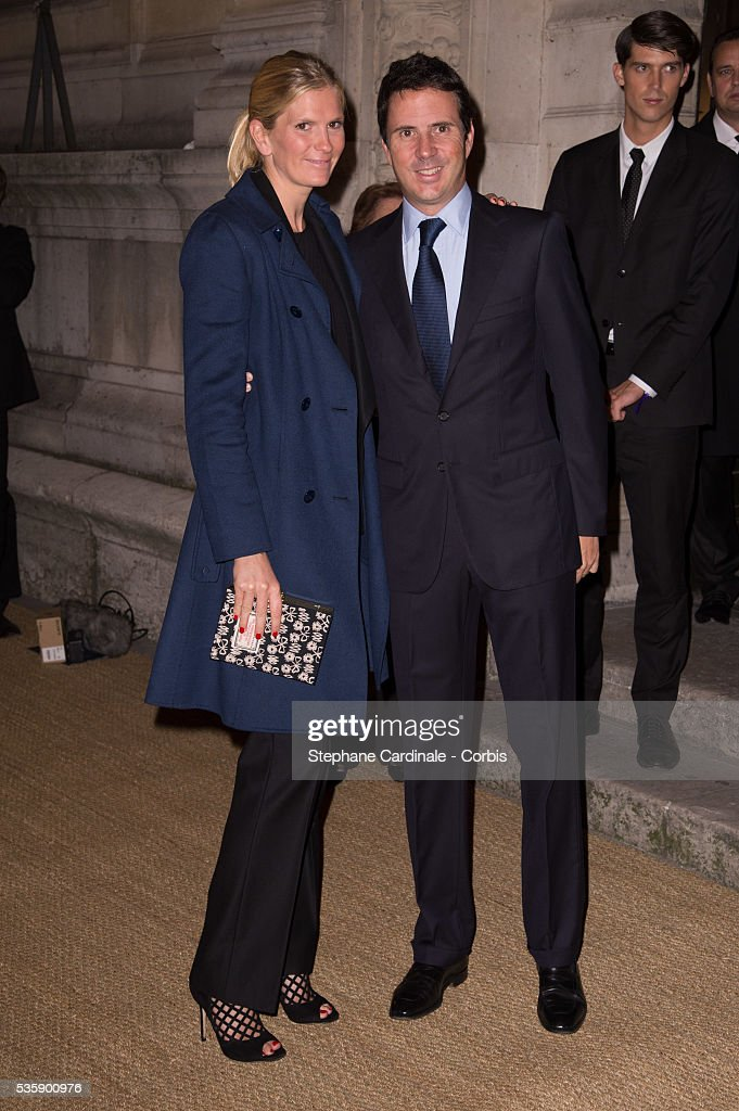 Segolene Gallienne Frere and Ian Gallienne arrive at a Ralph Lauren Collection Show and private dinner at Les Beaux-Arts de Paris on October 8, 2013 in Paris, France. On this occasion Ralph Lauren celebrates the restoration project and patron sponsorship of 'L'Ecole des Beaux-Arts'.