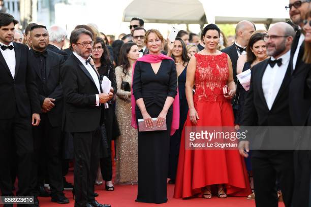 Segolene Royal and Elizabeth Keadle attend the The Killing Of A Sacred Deer screening during the 70th annual Cannes Film Festival at Palais des...