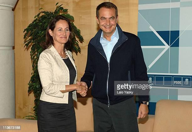 Segolene Royal and Prime Minister Jose Luis Rodriguez Zapatero