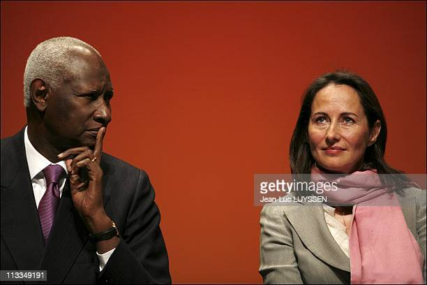 Segolene Royal At The Congress Of The Association Of Regions Of France In Dijon France On December 14 2006 Abdou Diouf and Segolene Royal
