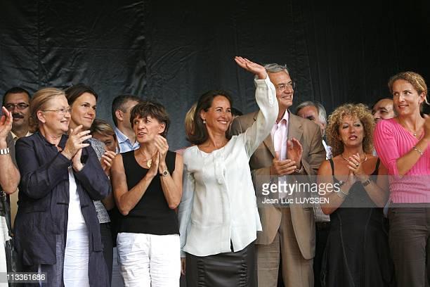 Segolene Royal At The Rose Festival In Melle France On August 25 2007 Aurelie Filippetti Michelle Delaunay Segolene Royal JeanLouis Bianco Delphine...