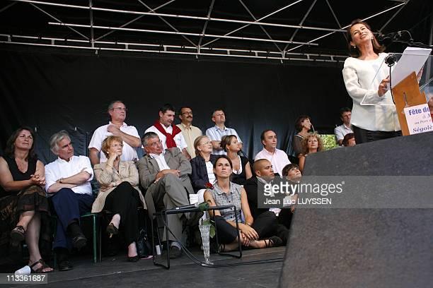 Segolene Royal At The Rose Festival In Melle France On August 25 2007 Segolene Royal