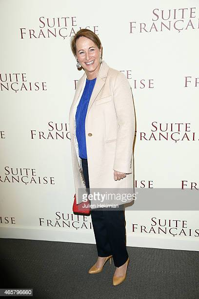 Segolene Royal attends 'Suite Francaise' Premiere at Cinema UGC Normandie on March 10 2015 in Paris France