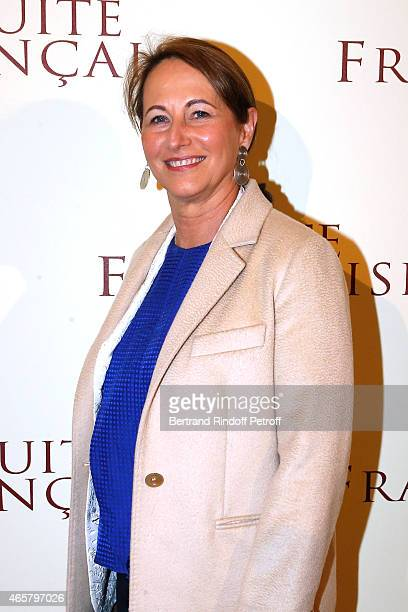 Segolene Royal attends the world premiere of 'Suite Francaise' at Cinema UGC Normandie on March 10 2015 in Paris France