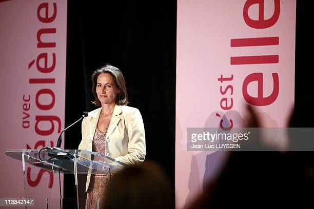 Segolene Royal Declares Himself Candidate To The Nomination In The Candidacy For The Presidential Elections Of 2007 On May 9Th 2008 In Vitrolles...