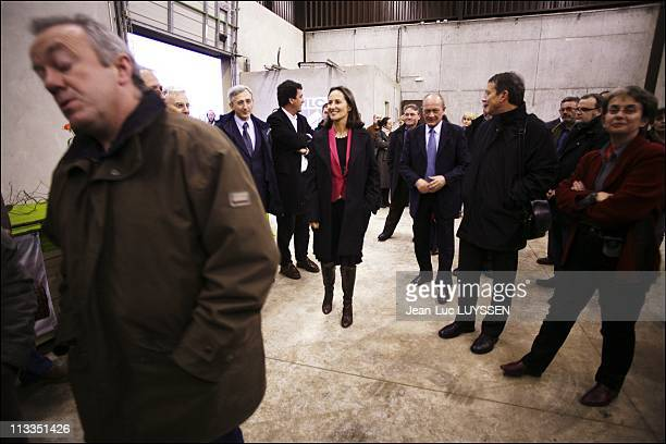 Segolene Royal In Melle France On January 12 2007 Segolene Royal in a recycle wood fuel conditioning company