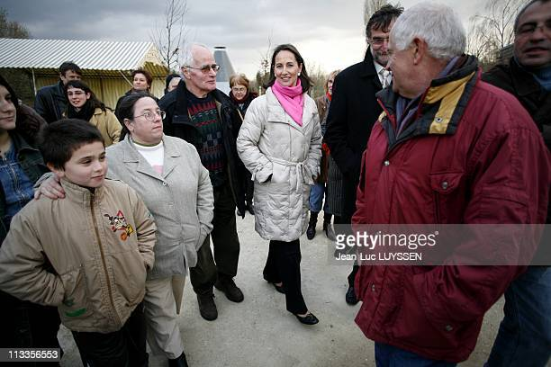 Segolene Royal In Melle France On March 21 2007 Segolene Royal opens the platform of archaeological silver mines of Melle