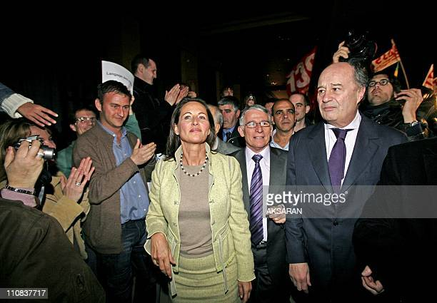 Segolene Royal Is In Toulouse To Support Pierre Cohen'S Candidacy To The City Council In Toulouse France On March 06 2008 Received here with Pierre...