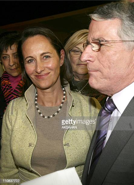 Segolene Royal Is In Toulouse To Support Pierre Cohen'S Candidacy To The City Council In Toulouse France On March 06 2008 Segolene Royal Pierre Cohen...