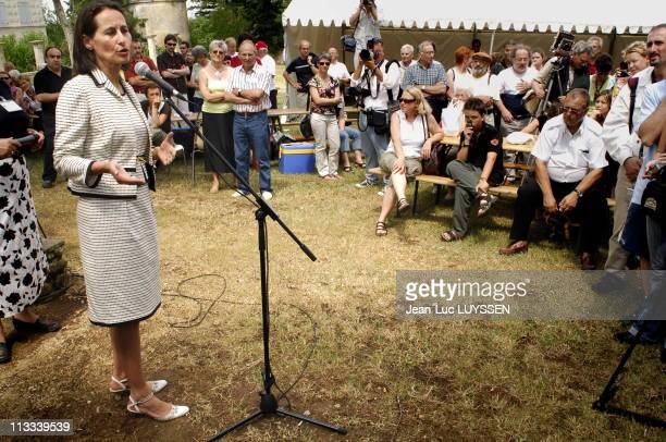 Segolene Royal On The Meeting Of The New Members Of Deux Sevres On June 17Th 2006 In France Here Segolene Royal