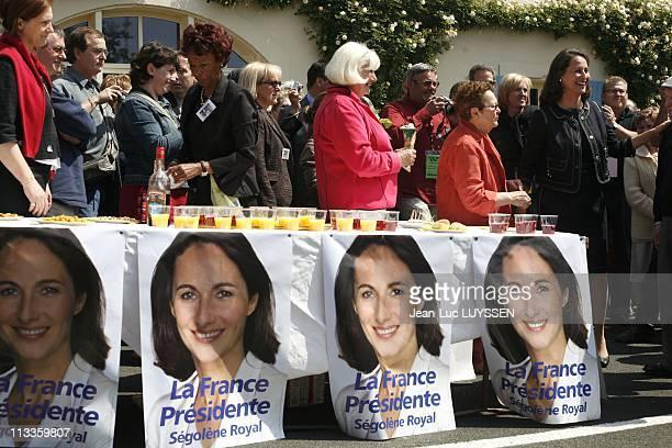 Segolene Royal Voting In Melle France On May 06 2007