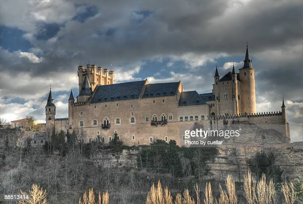 segovia alcazar - segovia stock pictures, royalty-free photos & images